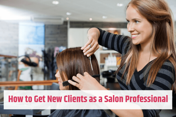 Woman Styling Hair of New Client